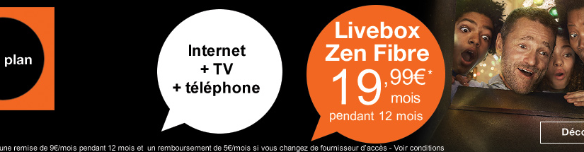 comparatif de la livebox zen fibre d orange et de la box starter de sfr 19 99 euros par mois. Black Bedroom Furniture Sets. Home Design Ideas