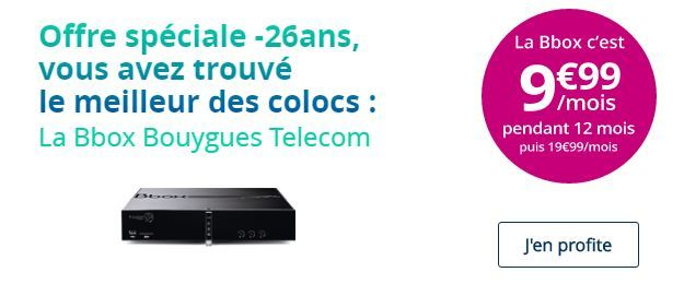 offre sp ciale tudiant la bbox de bouygues t l com disponible 9 99 euros. Black Bedroom Furniture Sets. Home Design Ideas