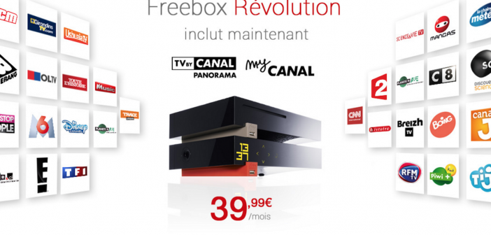 free mobile freebox r volution tv by canal panorama et. Black Bedroom Furniture Sets. Home Design Ideas