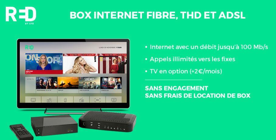 tarif box internet free red by sfr et bouygues. Black Bedroom Furniture Sets. Home Design Ideas