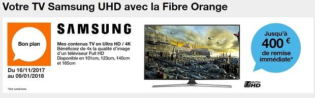 À part les réductions déjà appliquées sur ses gammes Livebox, le grand  opérateur propose aussi une réduction de prix de 400€ sur l achat d un TV 4K  ... 1289a698c65e