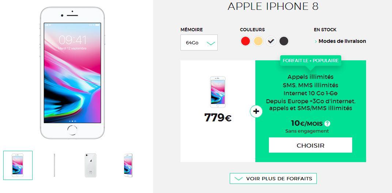 iphone 8 et 8 plus avec forfait choisir la meilleur offre