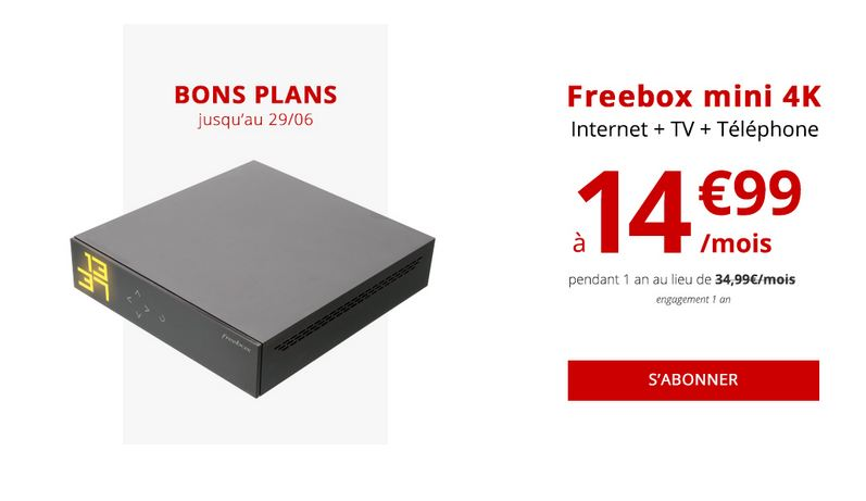 fibre optique au m me prix que l adsl la freebox mini 4k. Black Bedroom Furniture Sets. Home Design Ideas