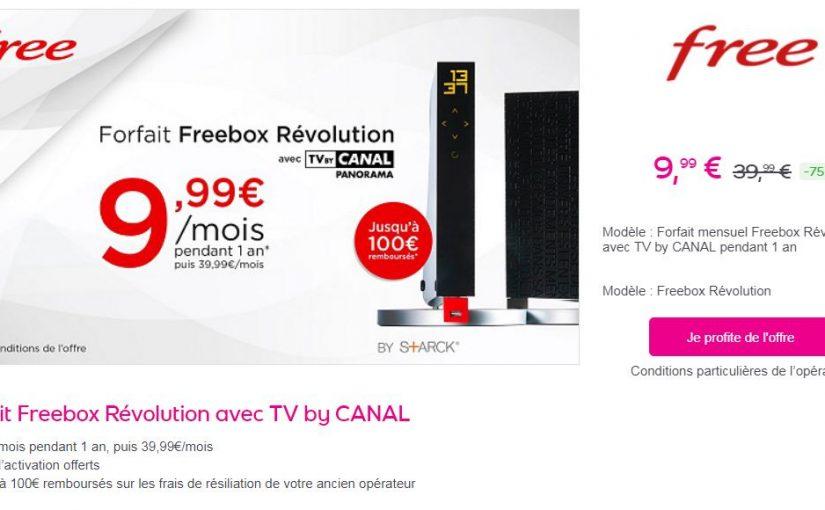 Freebox Revolution Tv By Canal A Seulement 9 99 Mois Sur Vente