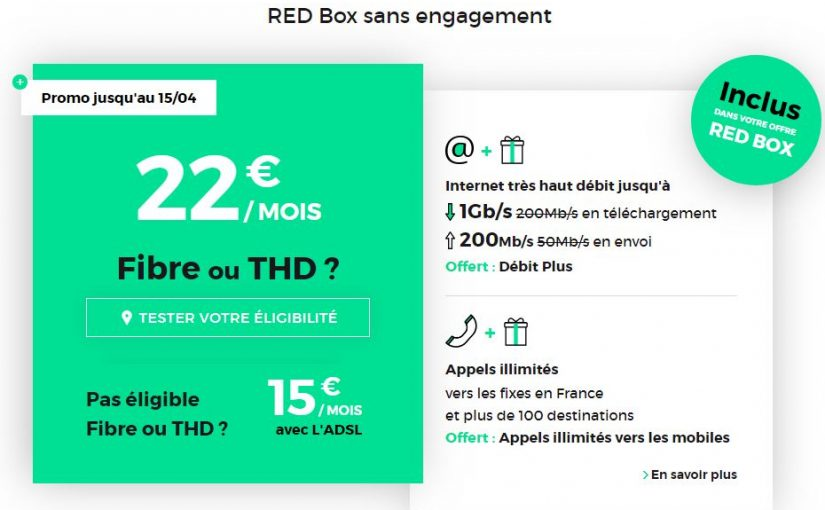 Comparateur Offre Fibre >> Box Internet Fibre Sans Engagement Comparatif Red By Sfr