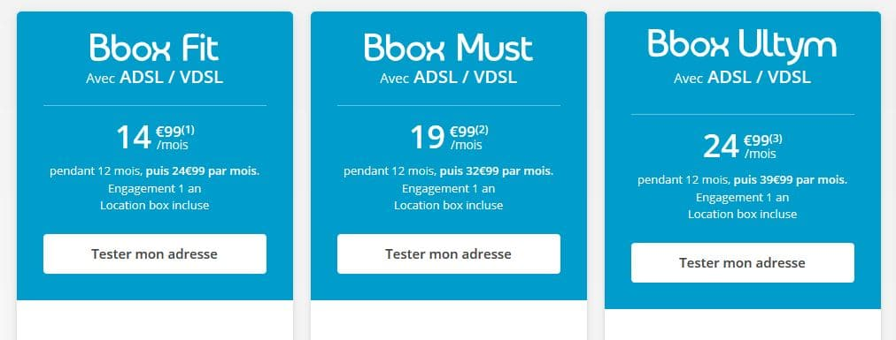 Offres Bouygues - ADSL