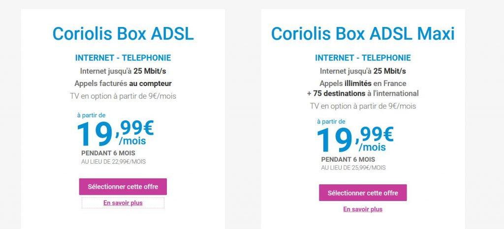 Offre Coriolis internet