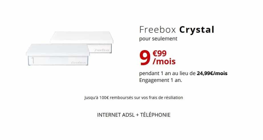 Freebox Crystal offre