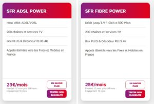 Offres SFR Power