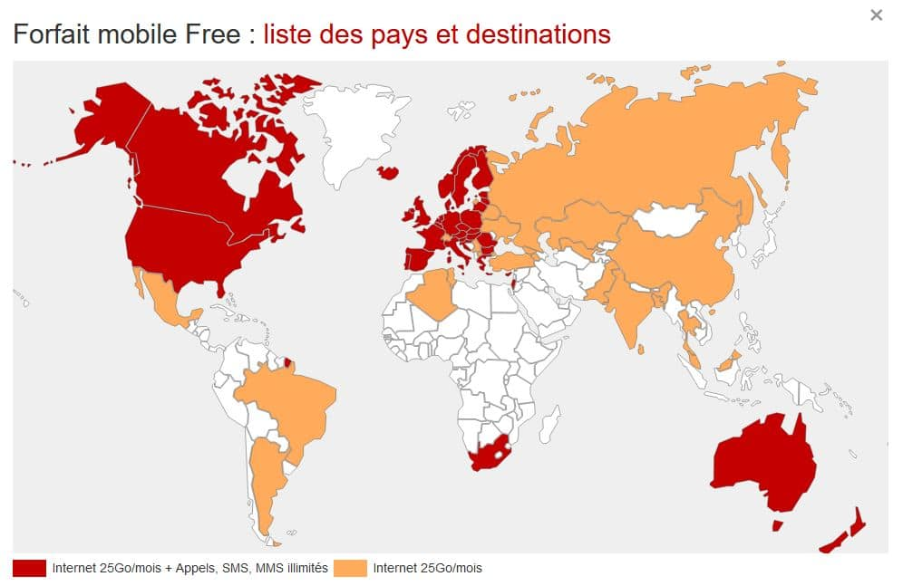 Destinations Internationales Free