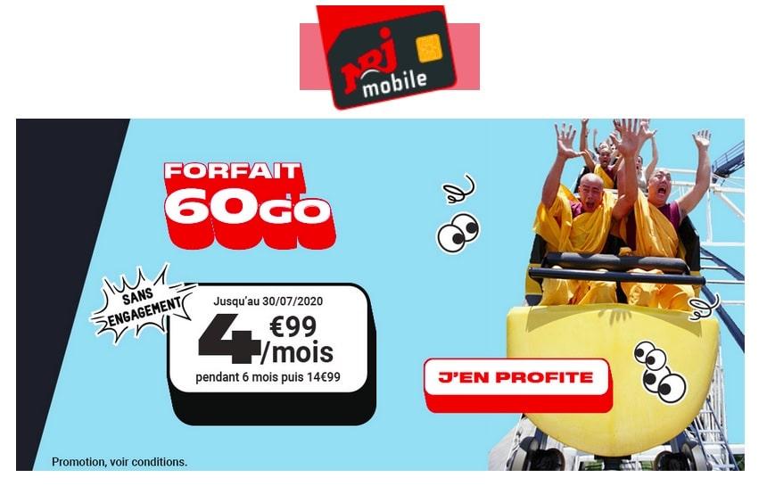 NRJ Mobile Forfait 60Go