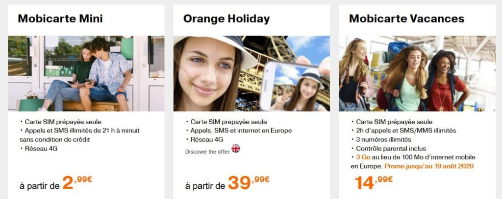 Mobicarte Orange offres