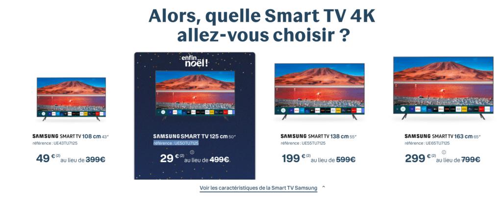 Taille Smart TV 4K