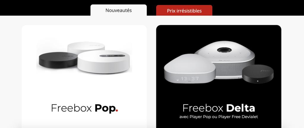 Freebox Pop et Delta