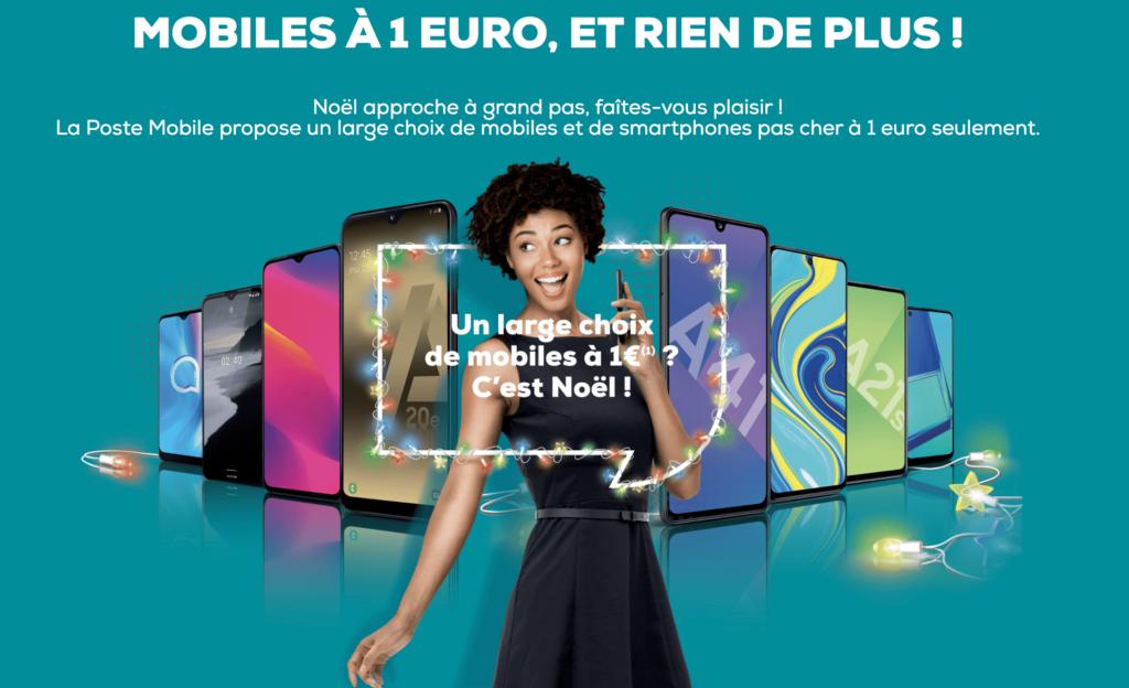 la poste mobile portable à 1 euro